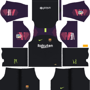 Barcelona gk Home Kit