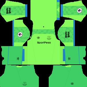 Everton FC DLS Goalkeeper Home Kit
