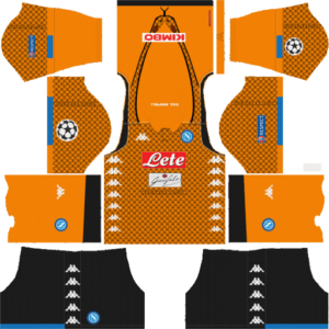 SSC Napoli DLS Goal Keeper UCL Badge Away Kit
