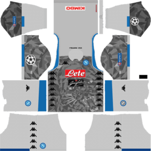 SSC Napoli DLS UCL Badge Third Kit