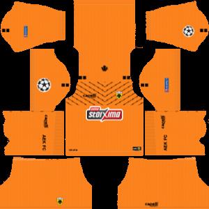 AEK FC DLS Goal Keeper UCL Badge Home Kit