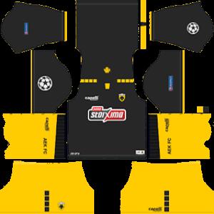 AEK FC DLS UCL Badge Away Kit