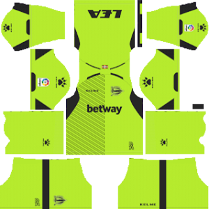 Deportivo Alavés DLS Goal Keeper Home Kit