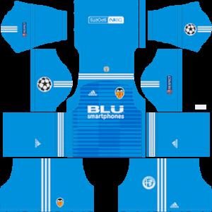 Valencia CF DLS Goal Keeper UCL Away Kit