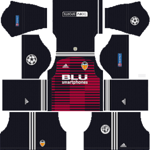 Valencia CF DLS Goal Keeper UCL Home Kit
