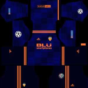 Valencia CF DLS UCL Away Kit