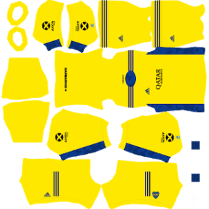 Boca Juniors 2021 DLS Goal Keeper Away Kit